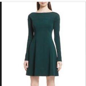 Theory Valentina Scuba Dress NWT dark Green Sz L